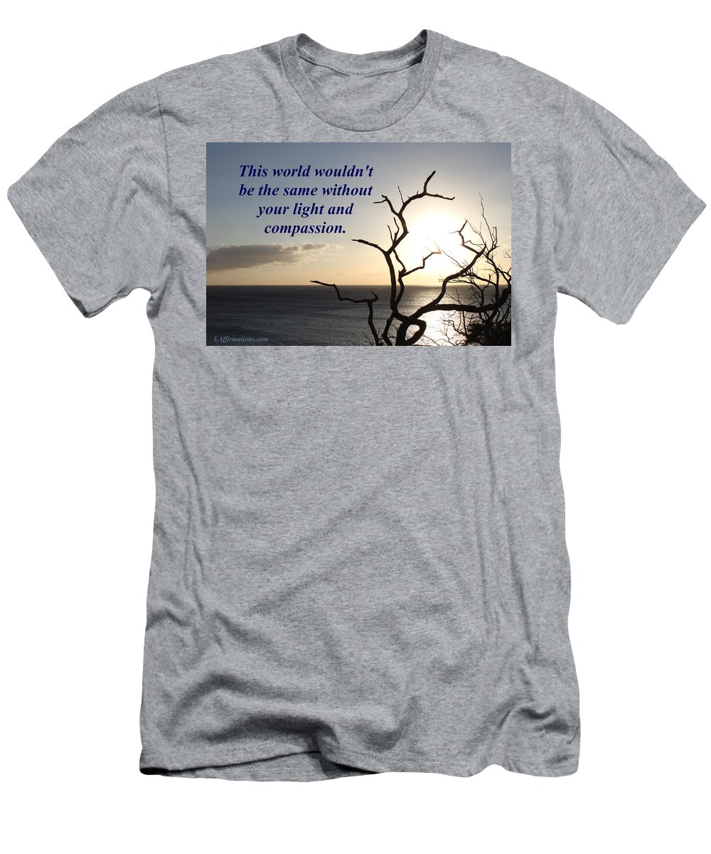 Maui Men's T-Shirt (Athletic Fit) featuring the photograph The World Wouldn't Be The Same by Pharaoh Martin