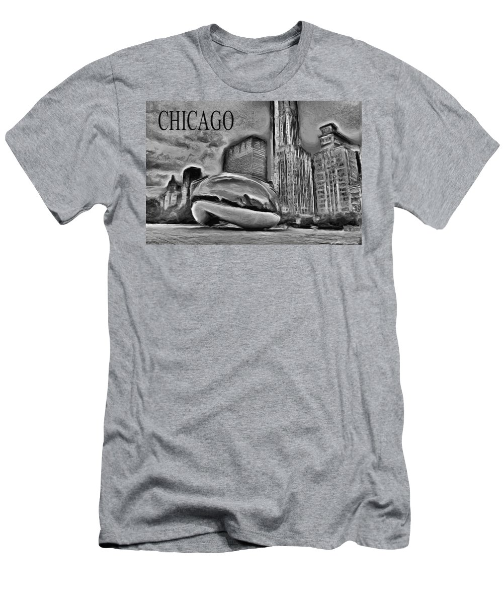 Cloudgate T-Shirt featuring the painting This Is Chicago by Ely Arsha