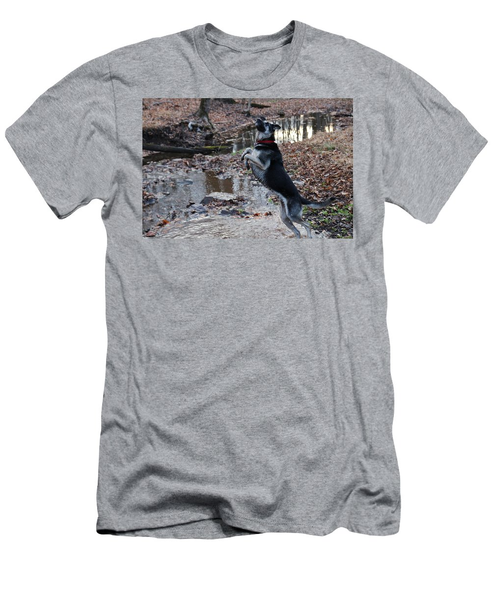 German Men's T-Shirt (Athletic Fit) featuring the photograph Throwing Stones by David Rucker