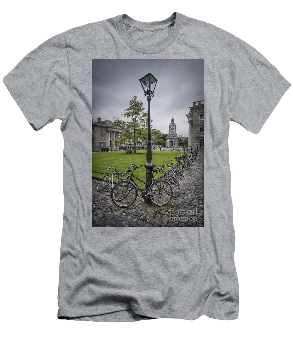 Dublin Men's T-Shirt (Athletic Fit) featuring the photograph Thunder Rising by Evelina Kremsdorf