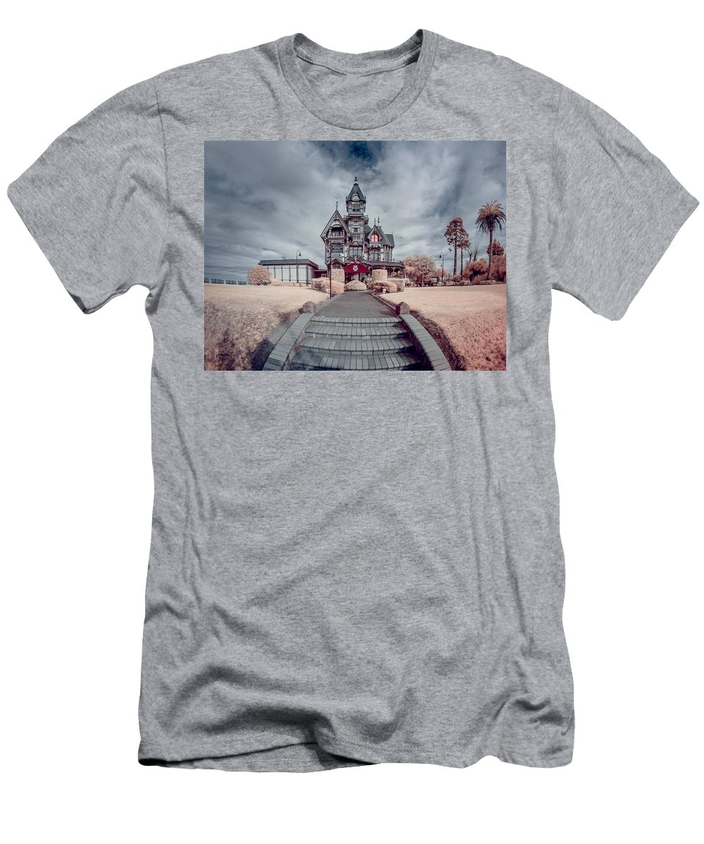 Infrared Men's T-Shirt (Athletic Fit) featuring the photograph To The Mansion by Greg Nyquist