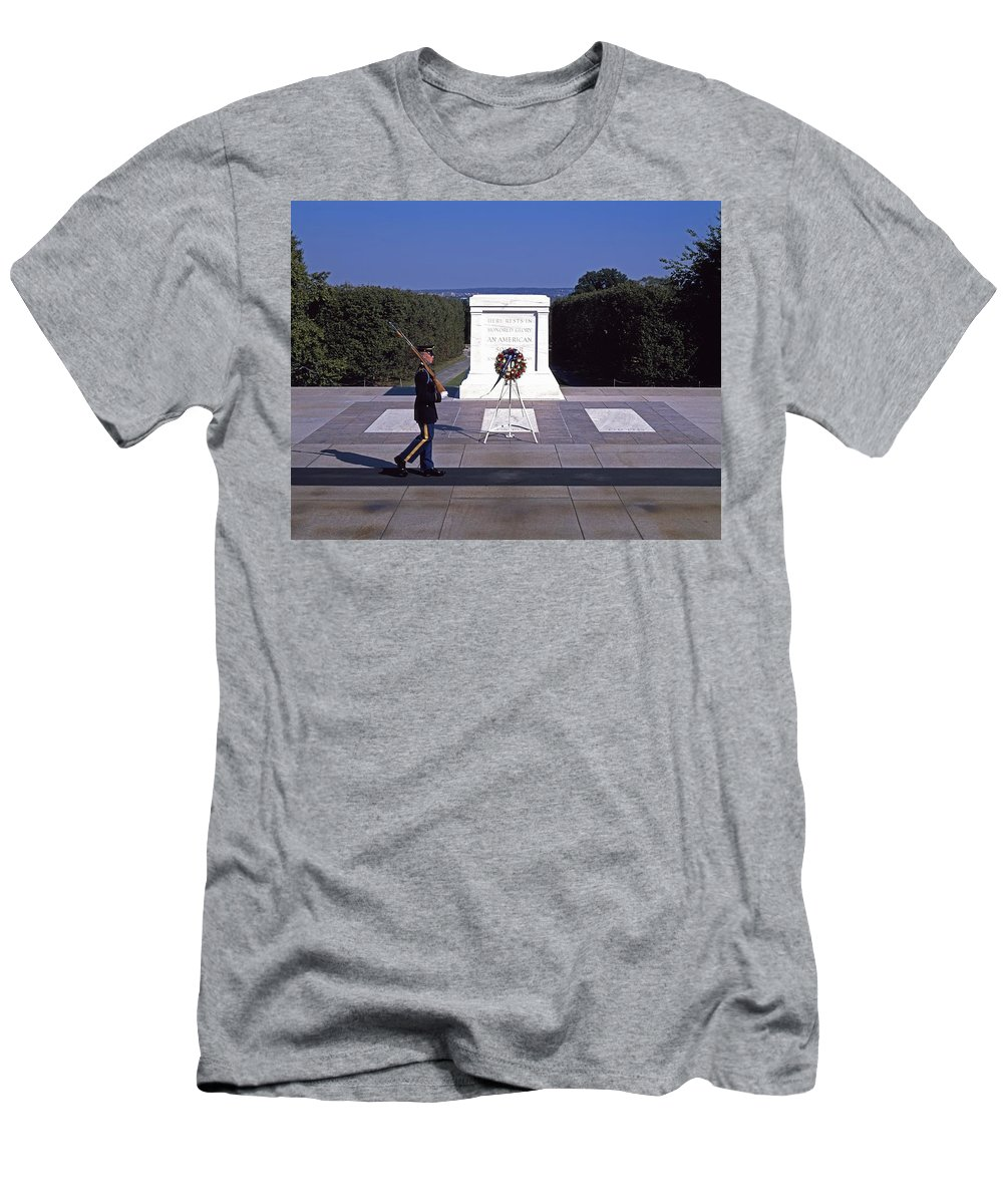 Tomb Of The Unknown Soldier Men's T-Shirt (Athletic Fit) featuring the photograph Tomb Of The Unknown Soldier by Mountain Dreams