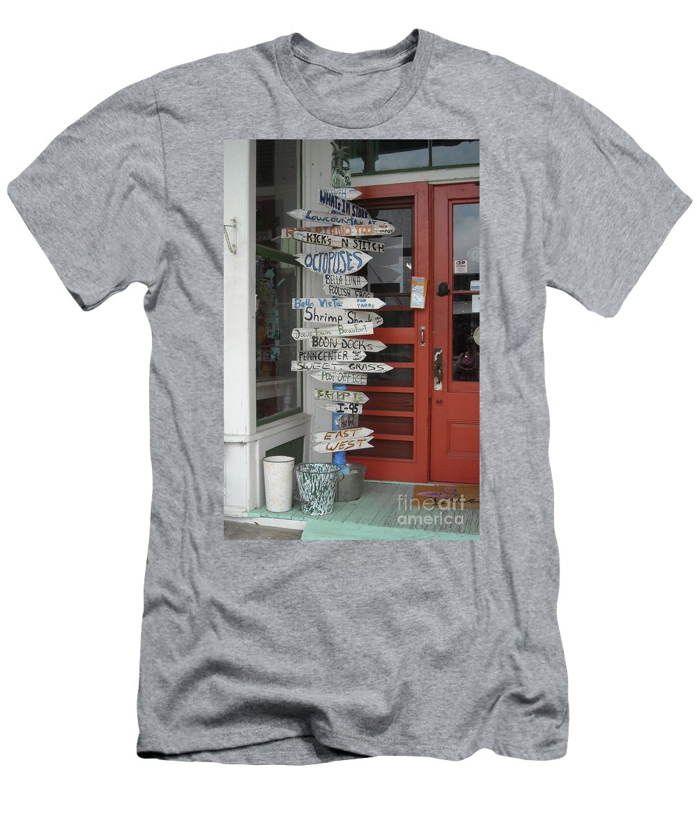 Gift Shop Men's T-Shirt (Athletic Fit) featuring the photograph Too Many Choices by Michelle Welles
