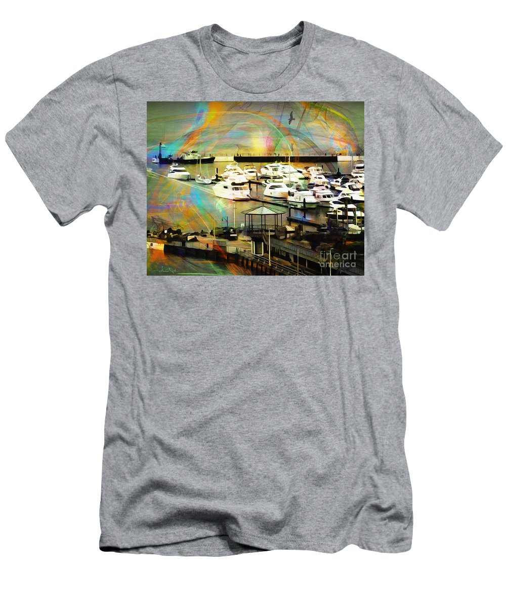 Nag004056 Men's T-Shirt (Athletic Fit) featuring the photograph Toys Of The Sea by Edmund Nagele