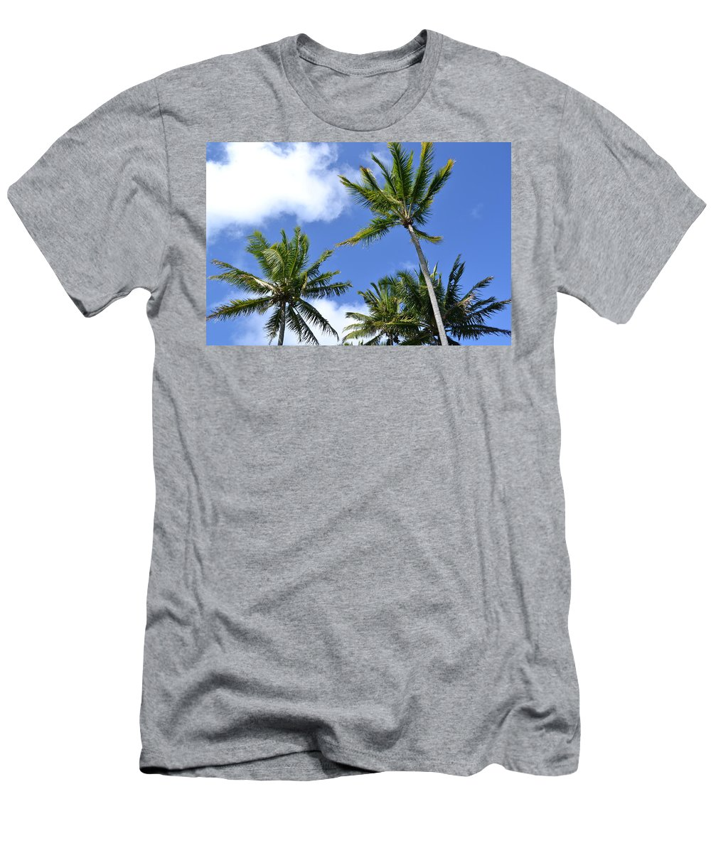 Coconut Trees Men's T-Shirt (Athletic Fit) featuring the photograph Tradewinds by Lehua Pekelo-Stearns
