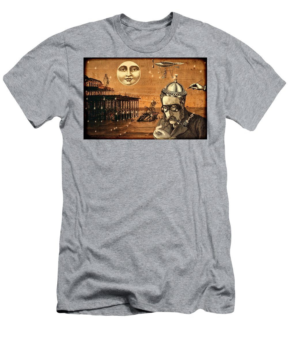 Treasure Men's T-Shirt (Athletic Fit) featuring the mixed media Treasure Steampunk by Bellesouth Studio