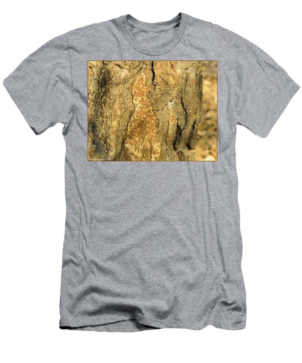 Usa Men's T-Shirt (Athletic Fit) featuring the photograph Tree Self Reflections In Bark by LeeAnn McLaneGoetz McLaneGoetzStudioLLCcom