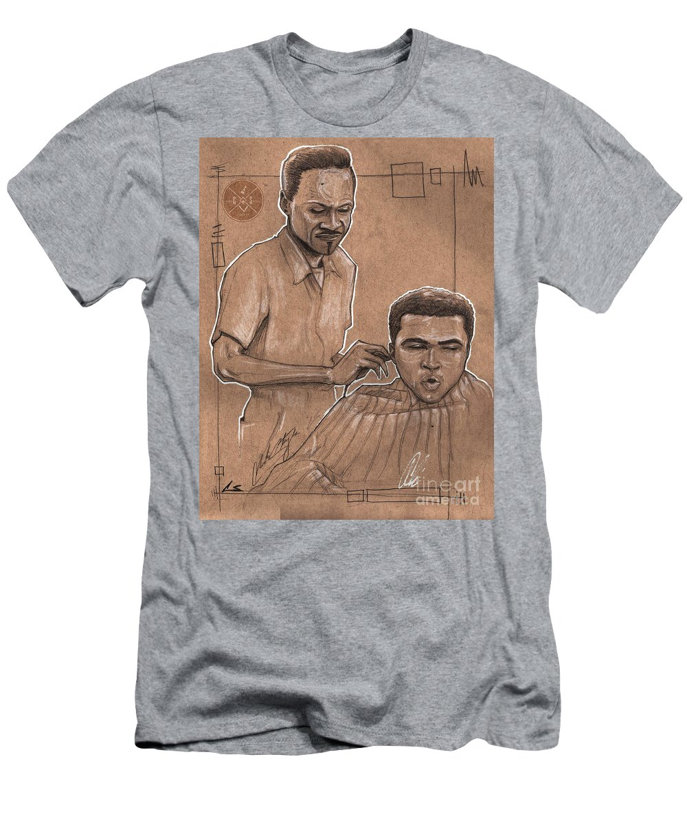 Barber Men's T-Shirt (Athletic Fit) featuring the drawing Trim The Lion by Shop Aethetiks