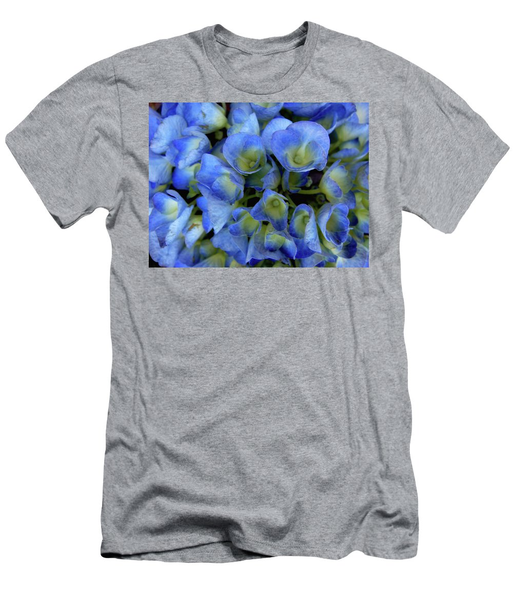 Blue Flowers Men's T-Shirt (Athletic Fit) featuring the photograph True Blue by Donna Blackhall