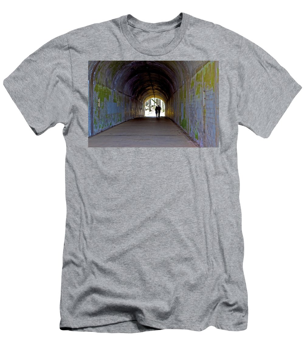 Tunnel Men's T-Shirt (Athletic Fit) featuring the photograph Tunnel Of Love by SC Heffner