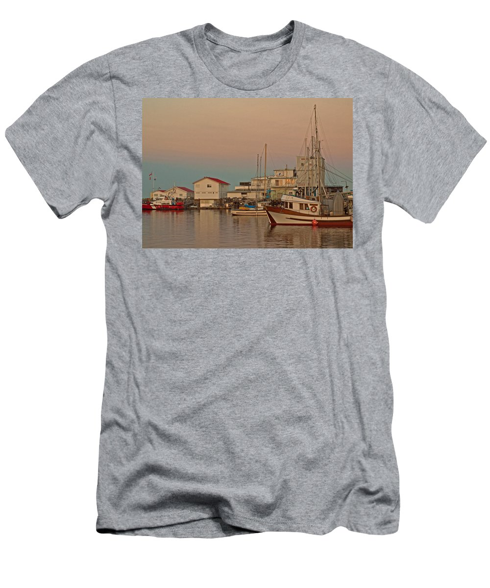 Fishing Boat Men's T-Shirt (Athletic Fit) featuring the photograph Twilight by Randy Hall