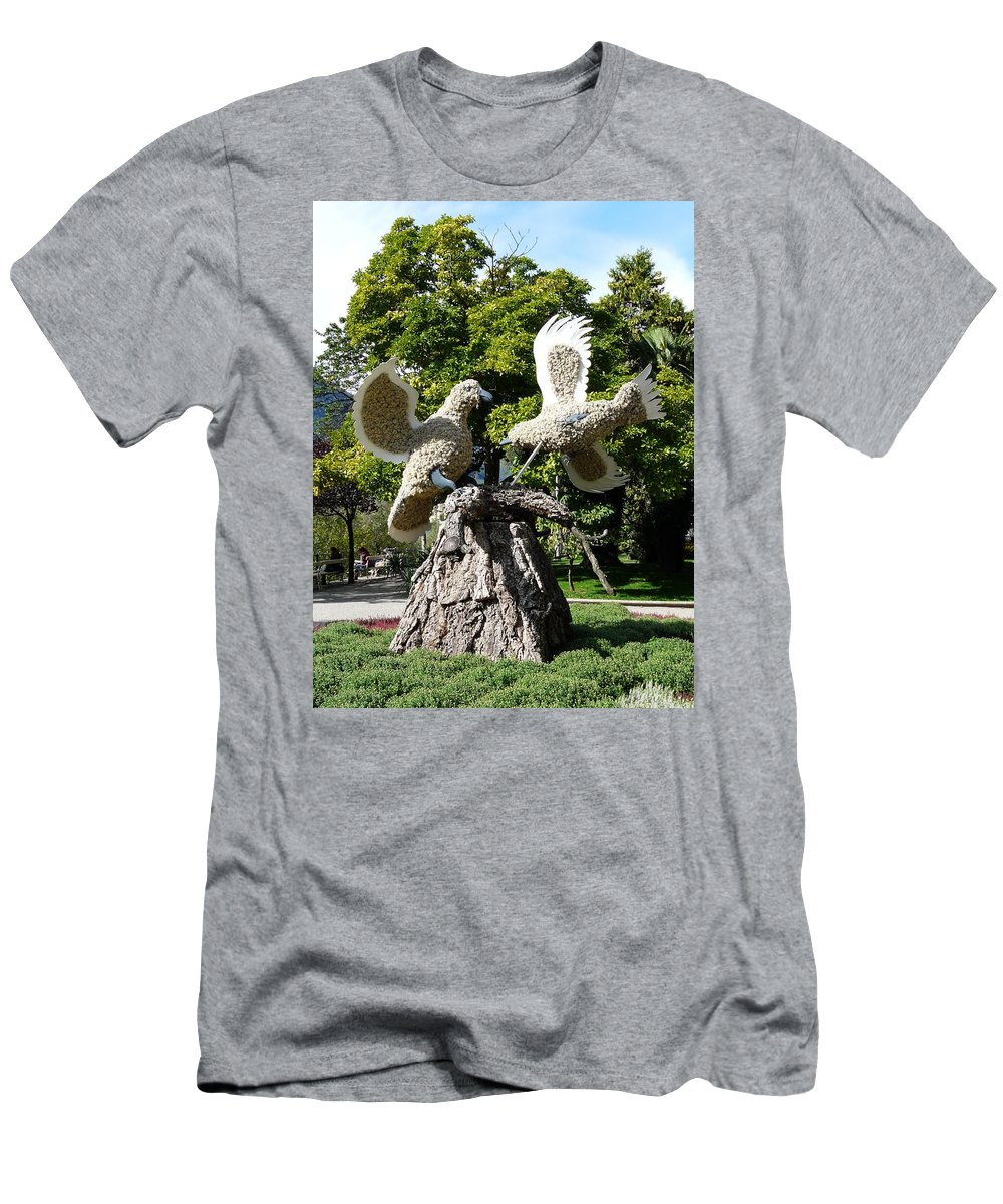 Dove Men's T-Shirt (Athletic Fit) featuring the photograph Two Doves by Valerie Ornstein