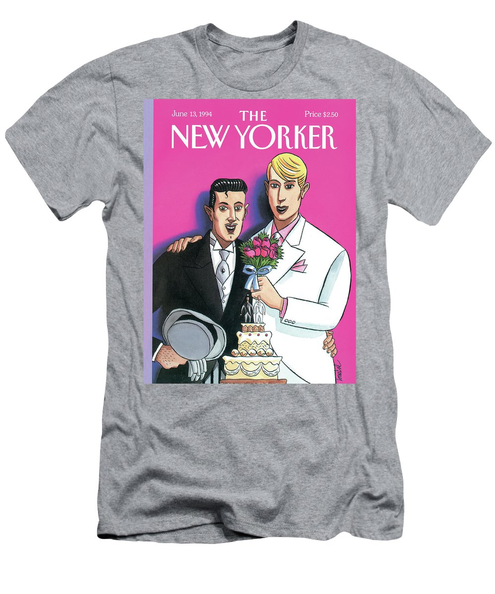 June T-Shirt featuring the painting New Yorker June 13th, 1994 by Jacques de Loustal