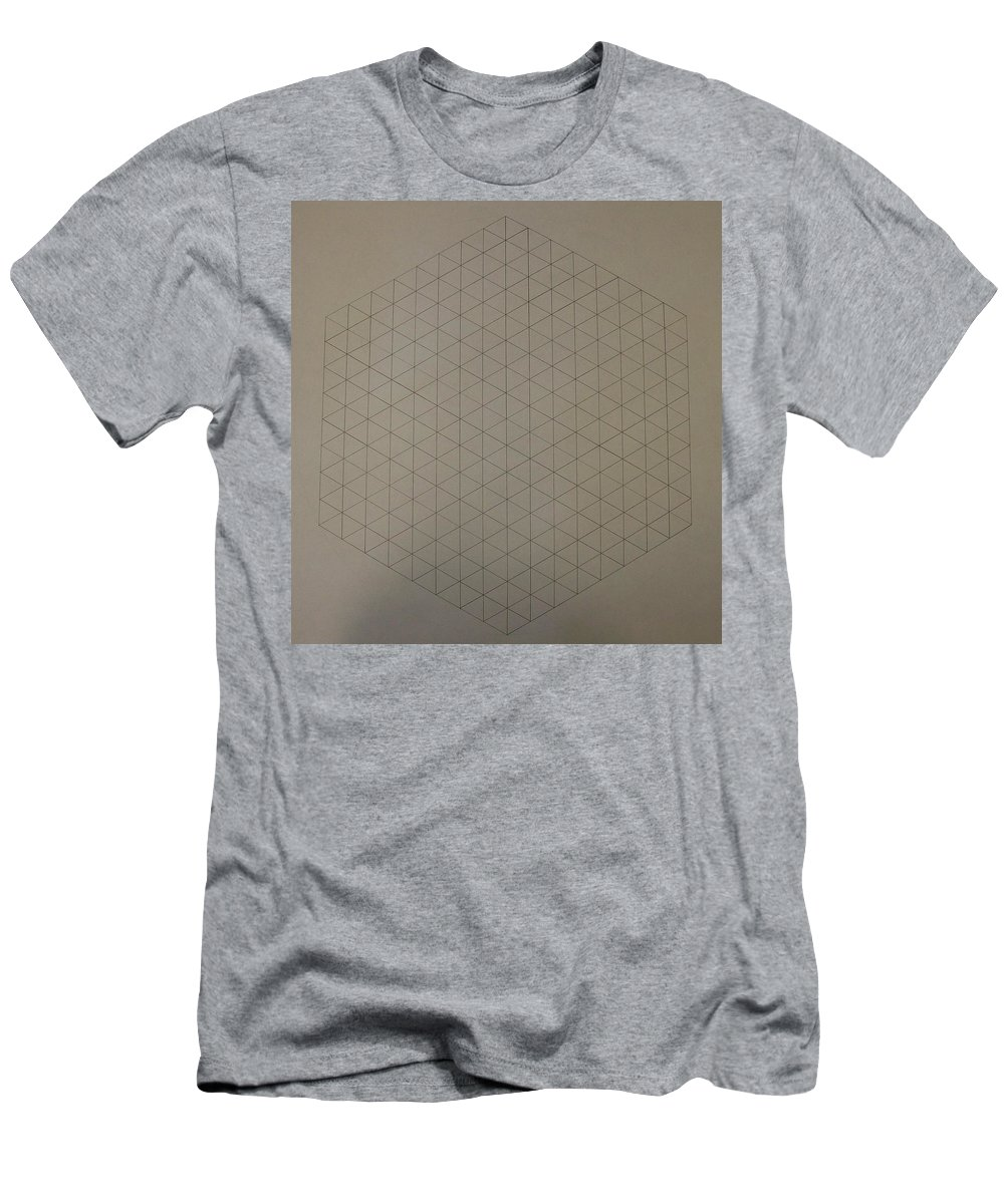 Math Men's T-Shirt (Athletic Fit) featuring the drawing Two To The Power Of Nine Or Eight Cubed by Jason Padgett