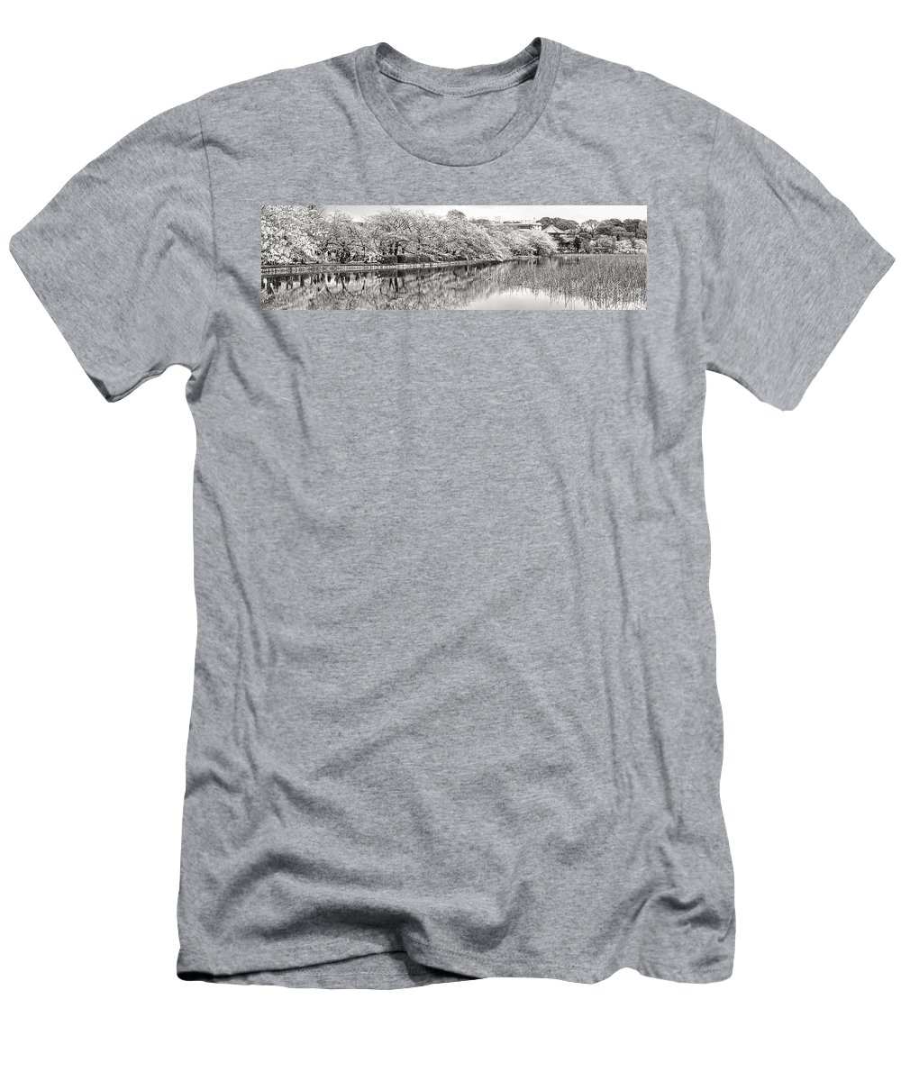 Tokyo Men's T-Shirt (Athletic Fit) featuring the photograph Ueno Park Sakuara by For Ninety One Days