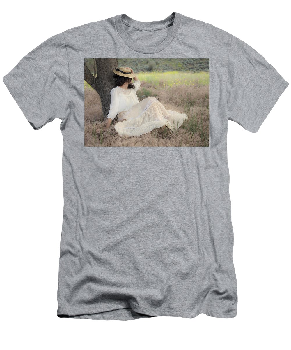 Nostalgia Men's T-Shirt (Athletic Fit) featuring the photograph Under The Old Appletree by Theresa Tahara