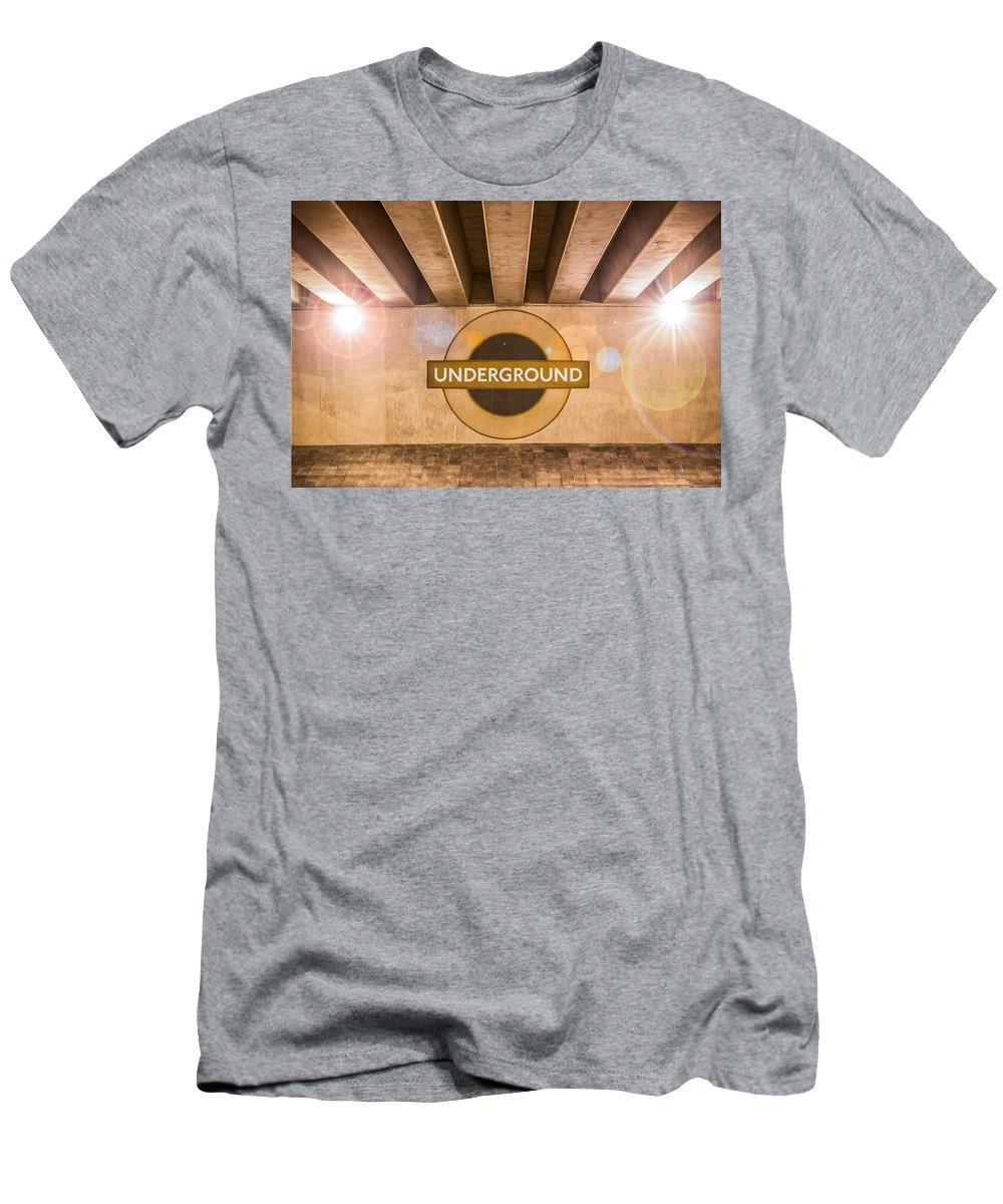 Bridge Men's T-Shirt (Athletic Fit) featuring the photograph Underground Underground by Semmick Photo