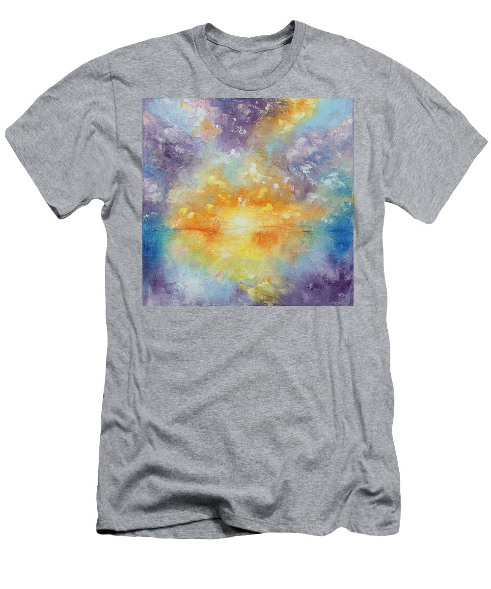 Sunrise Men's T-Shirt (Athletic Fit) featuring the painting Unforeseen Kiss by Meaghan Troup