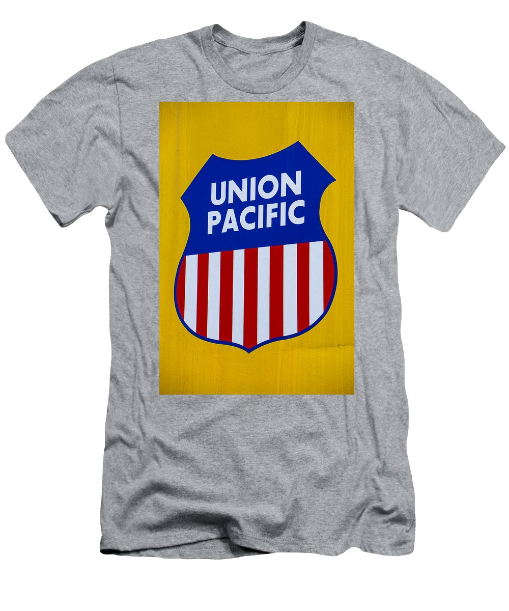 Union Pacific Raolroad Sign Men's T-Shirt (Athletic Fit)