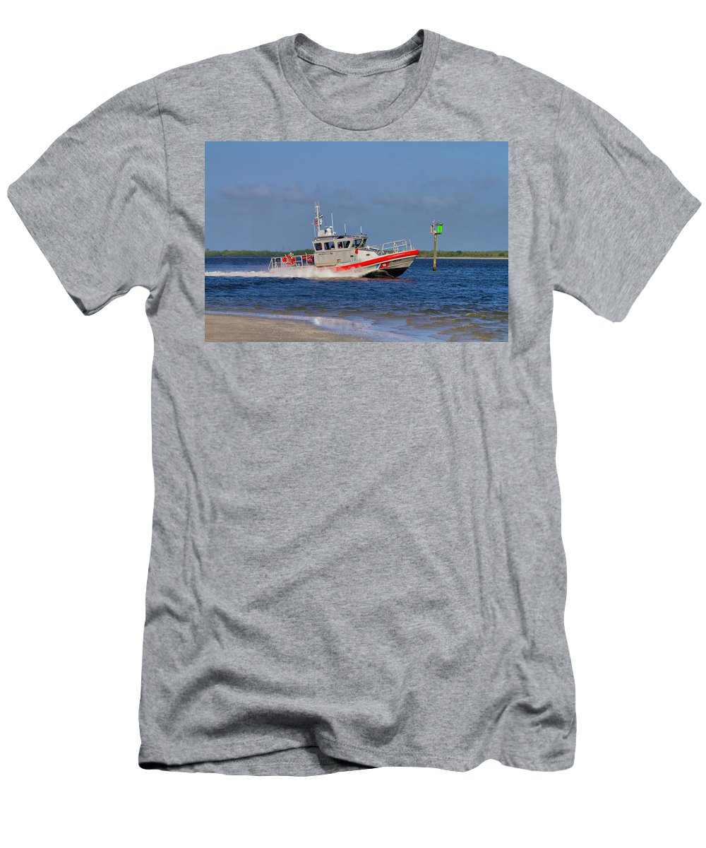 Coast Men's T-Shirt (Athletic Fit) featuring the photograph United States Coast Guard by Kim Hojnacki