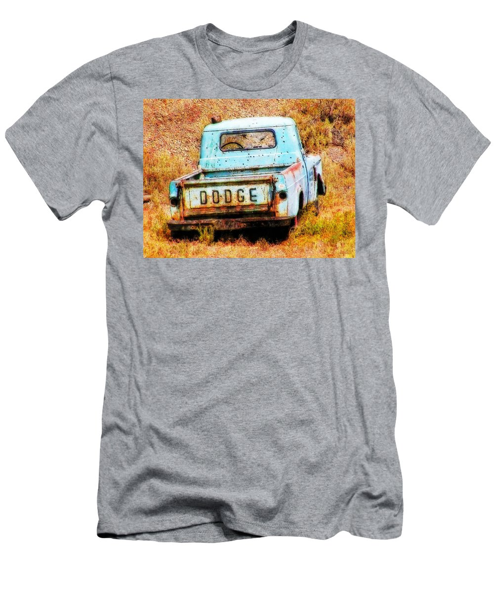 Dodge Men's T-Shirt (Athletic Fit) featuring the painting Unsuccessful Dodge by Sandy MacGowan