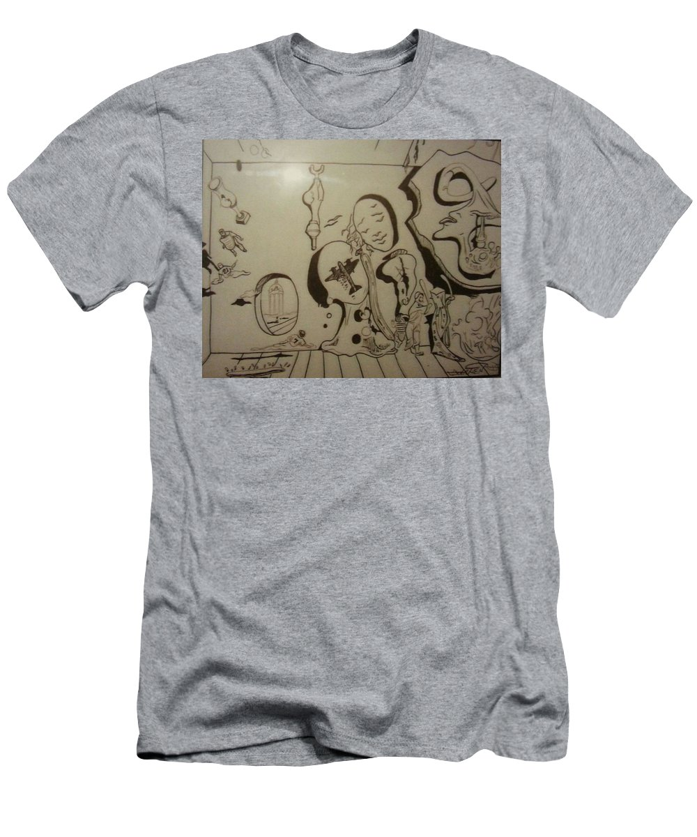 Men's T-Shirt (Athletic Fit) featuring the drawing Untitled by Jude Darrien