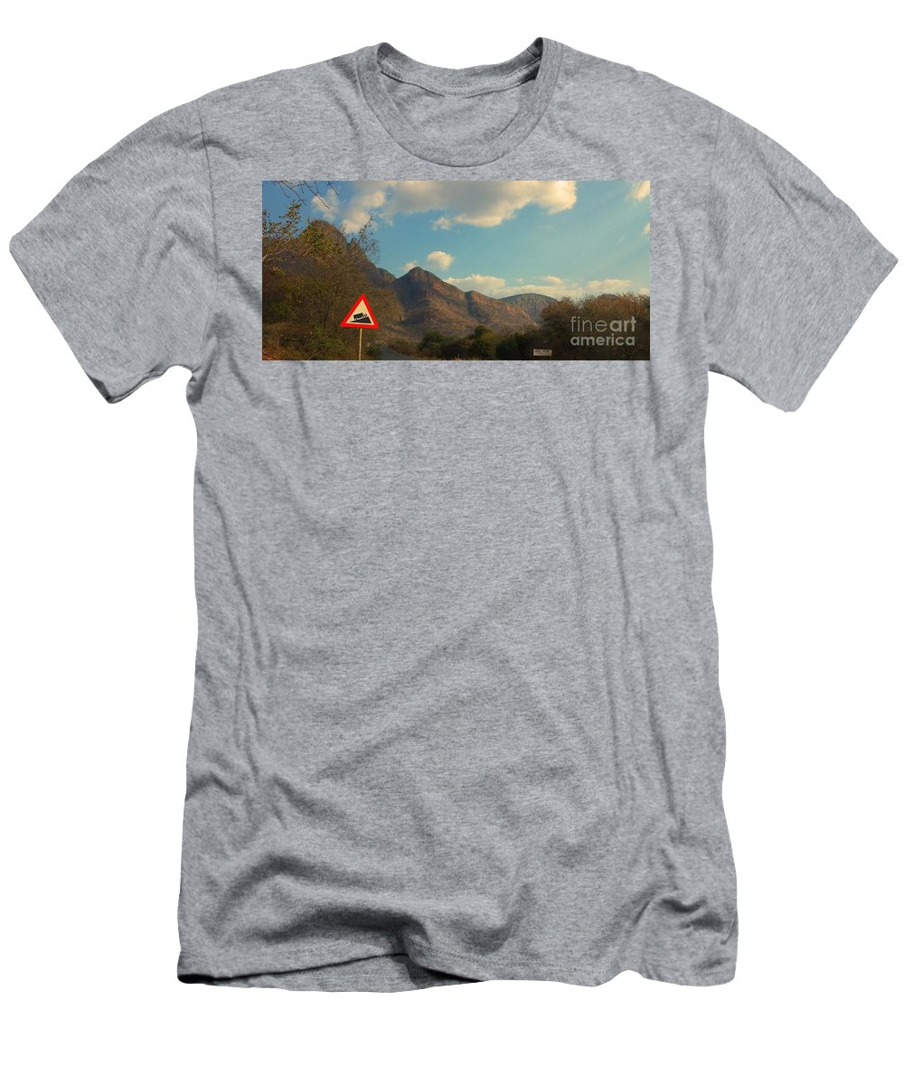 Mountains Men's T-Shirt (Athletic Fit) featuring the photograph Up Close Mountains by Lisa Byrne