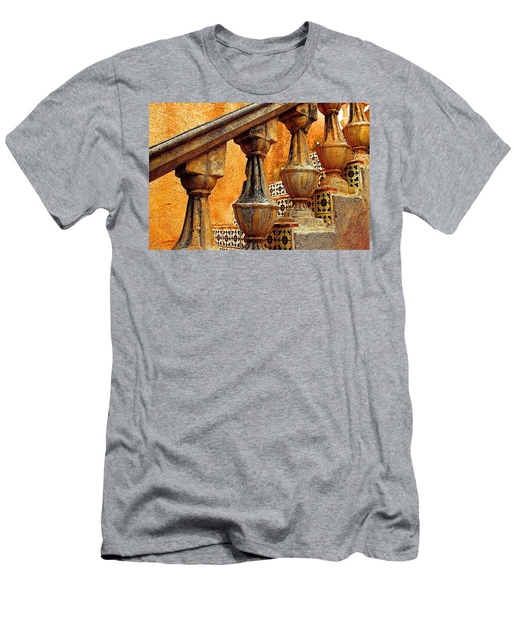 Stairs Men's T-Shirt (Athletic Fit) featuring the digital art Upwards by Barbara Zahno