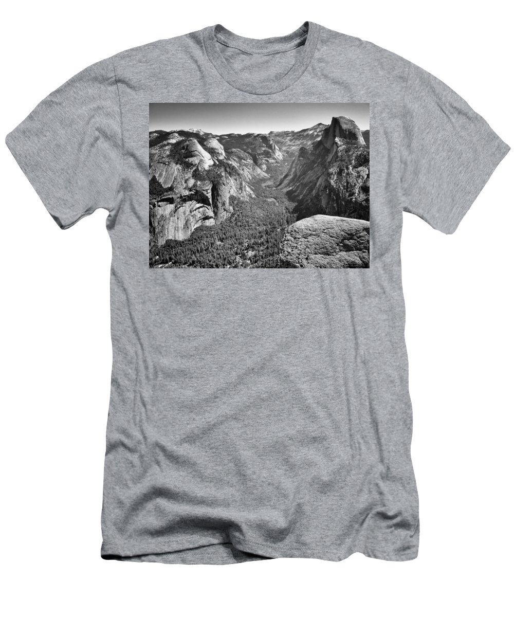 Landscape Men's T-Shirt (Athletic Fit) featuring the photograph Valley View At Glacier Point by David Beebe