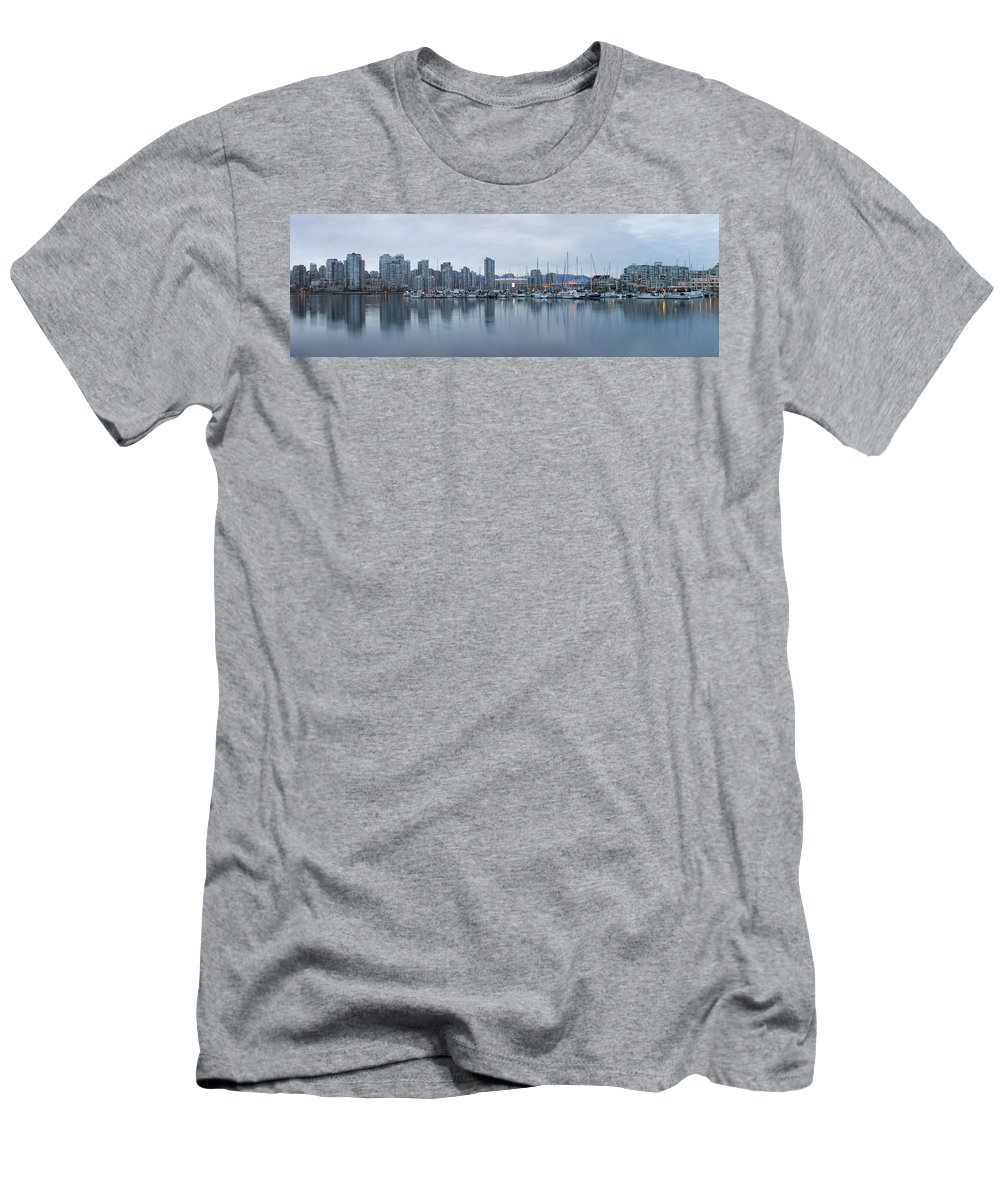 Architecture Men's T-Shirt (Athletic Fit) featuring the photograph Vancouver Panorama by Genaro Rojas