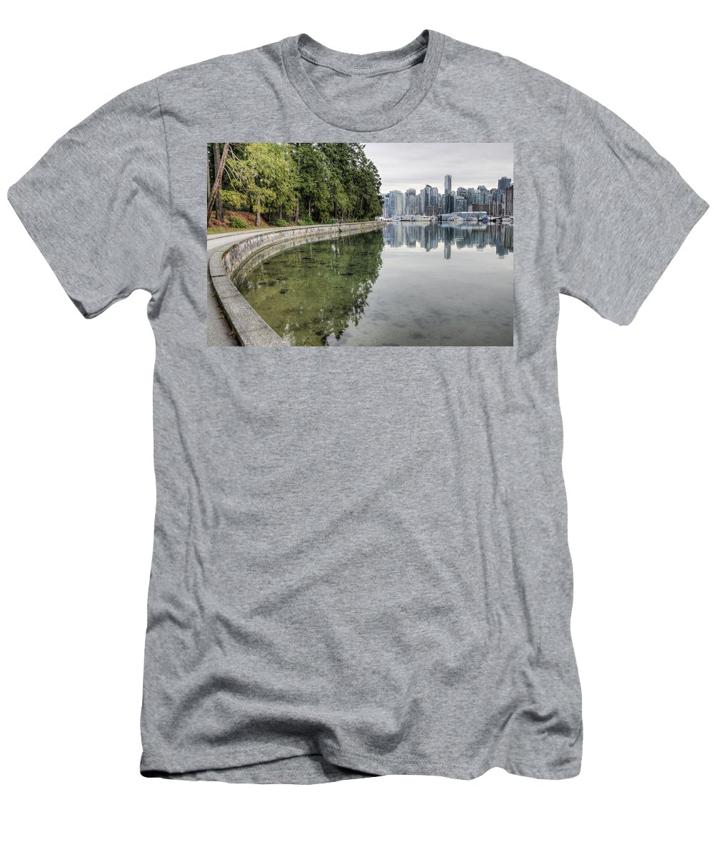 Vancouver Men's T-Shirt (Athletic Fit) featuring the photograph Vancouver Reflections by Ross G Strachan