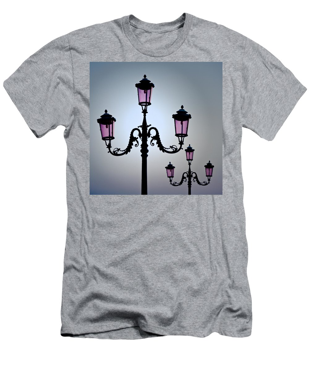 Venice Men's T-Shirt (Athletic Fit) featuring the photograph Venetian Lamps by Dave Bowman