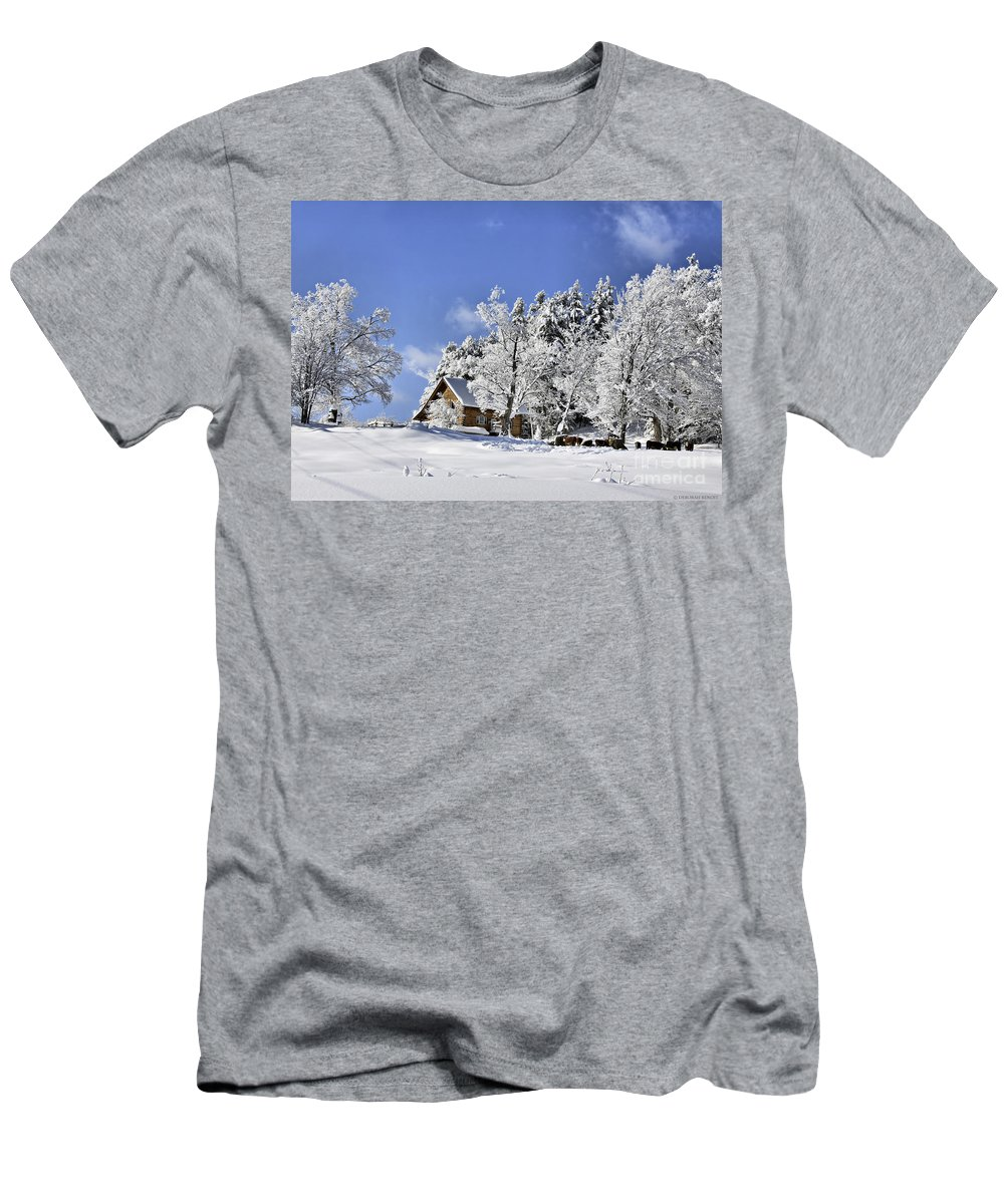 Winter Men's T-Shirt (Athletic Fit) featuring the photograph Vermont Winter Beauty by Deborah Benoit