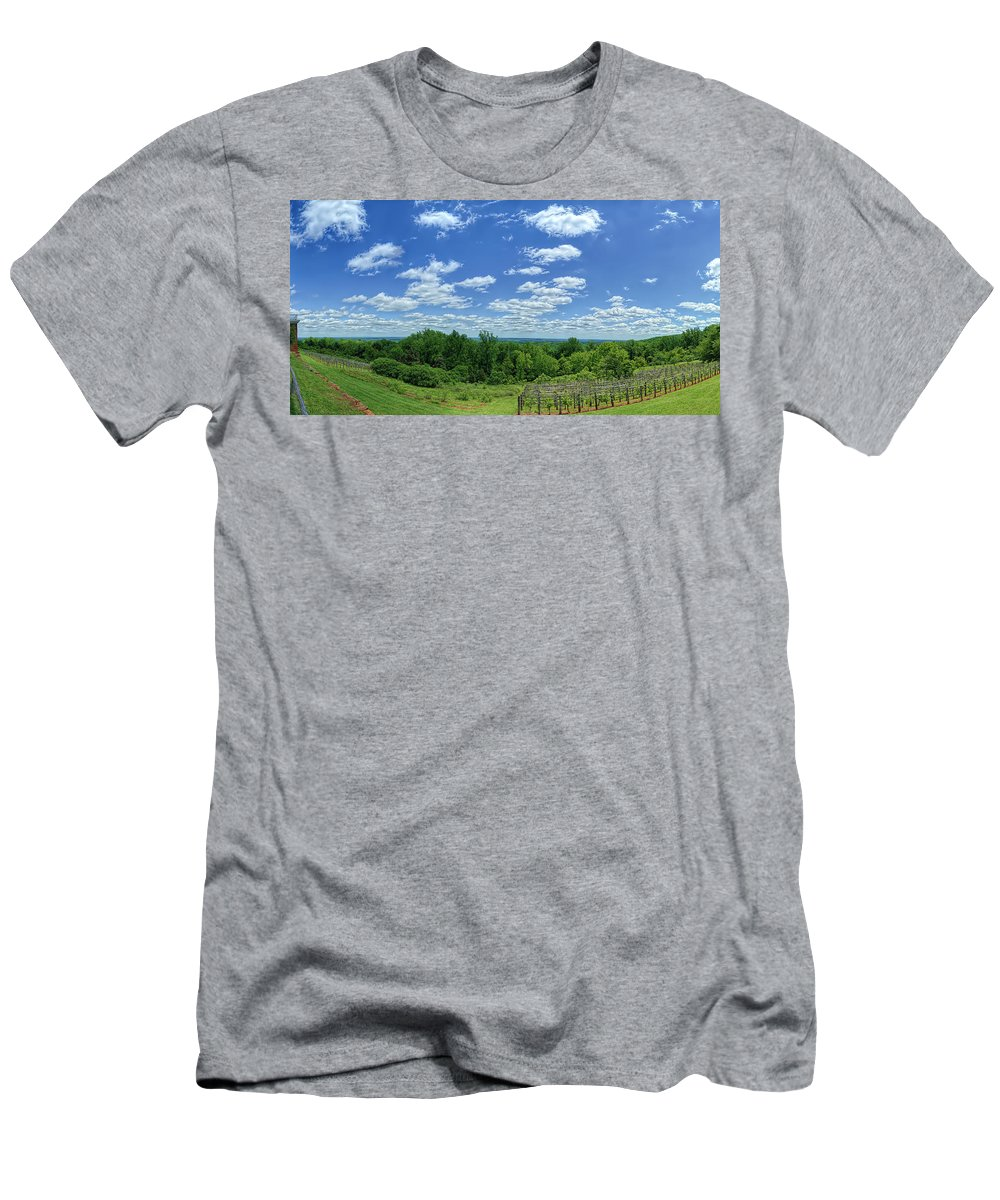Metro Men's T-Shirt (Athletic Fit) featuring the photograph View From Monticello by Metro DC Photography