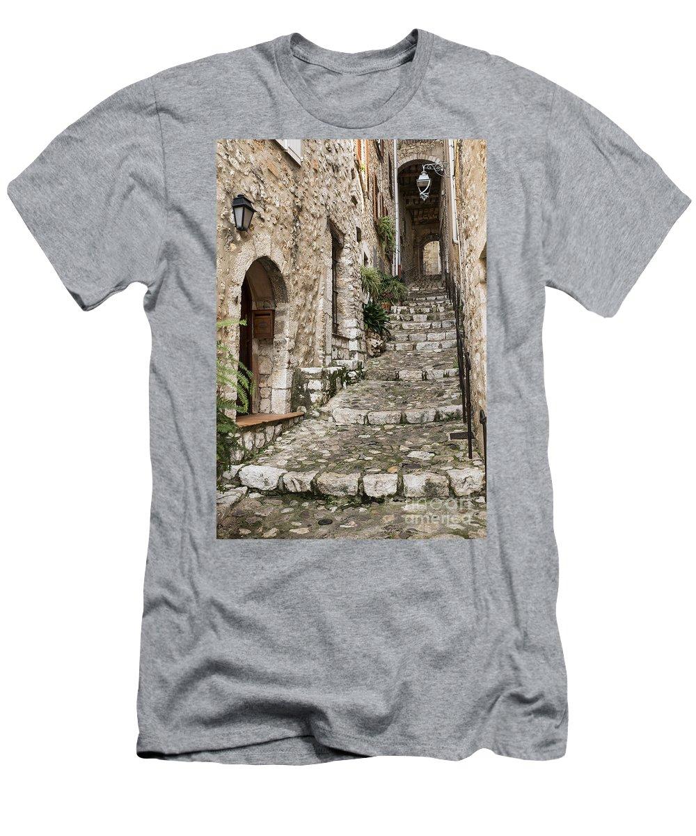 Alpes-maritimes Men's T-Shirt (Athletic Fit) featuring the photograph Village Of Saint Paul De Vance by John Greim