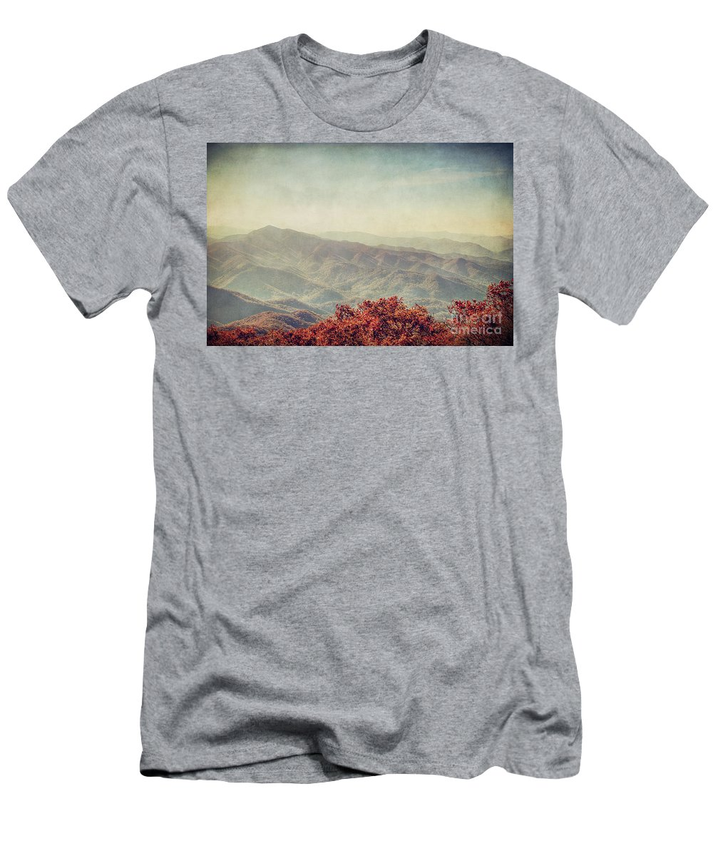 Fall Men's T-Shirt (Athletic Fit) featuring the photograph Vintage Fall by Emily Kay
