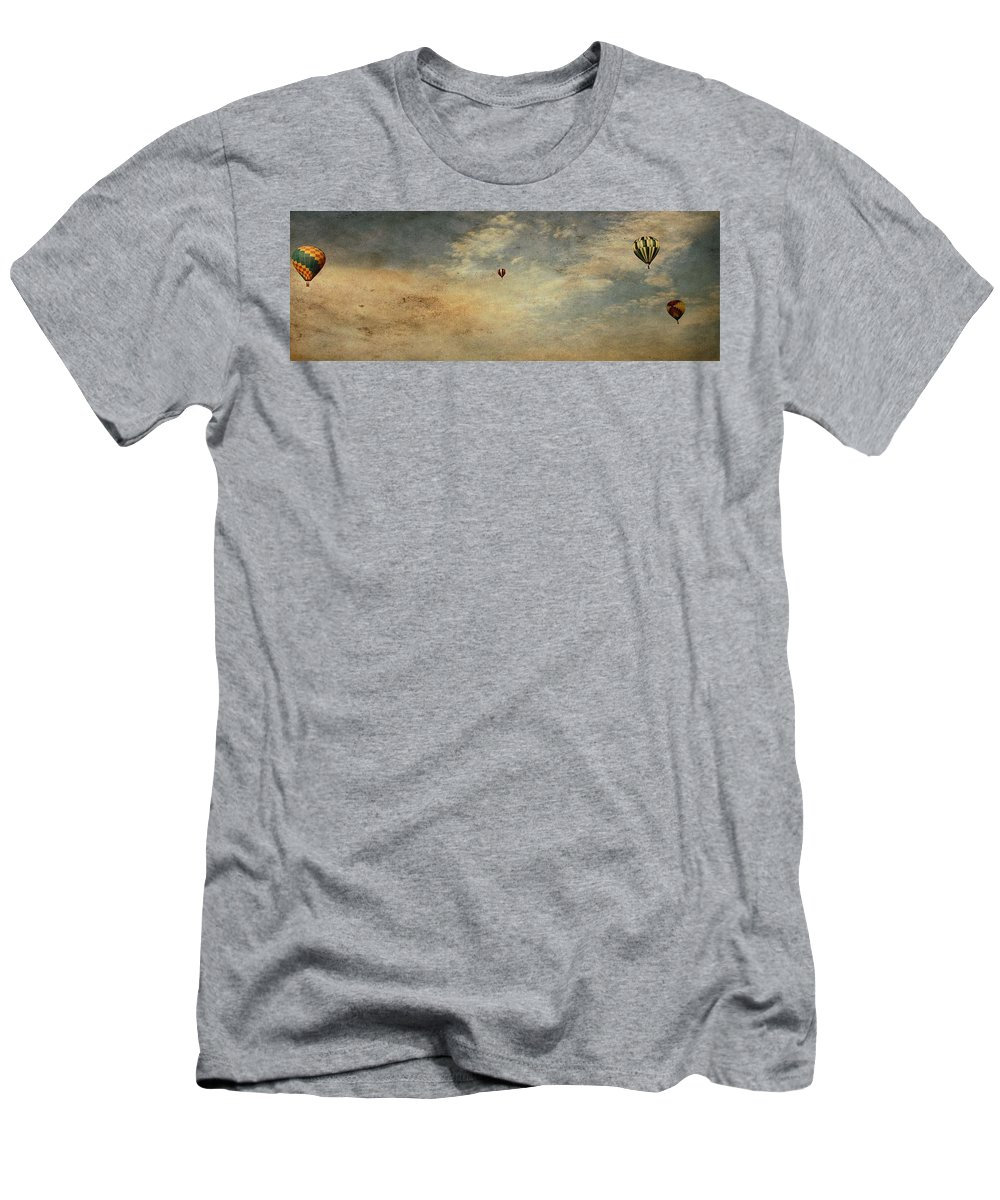 Vintage Hot Air Balloons Men's T-Shirt (Athletic Fit) featuring the photograph Vintage Hot Air Balloons by Dan Sproul