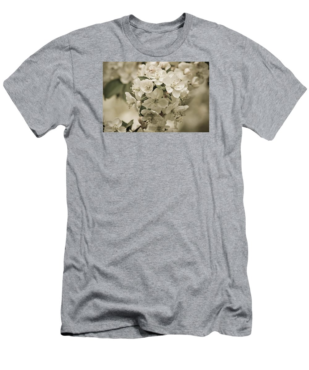Crabapple Men's T-Shirt (Athletic Fit) featuring the photograph Vintage Spring by Julie Andel