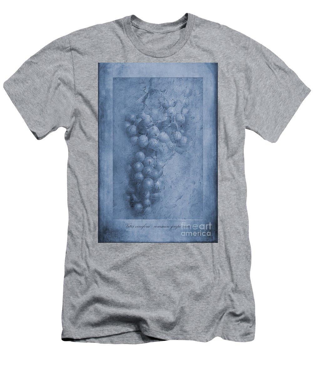 Vitis Vinifera Men's T-Shirt (Athletic Fit) featuring the photograph Vitis Cyanotype by John Edwards