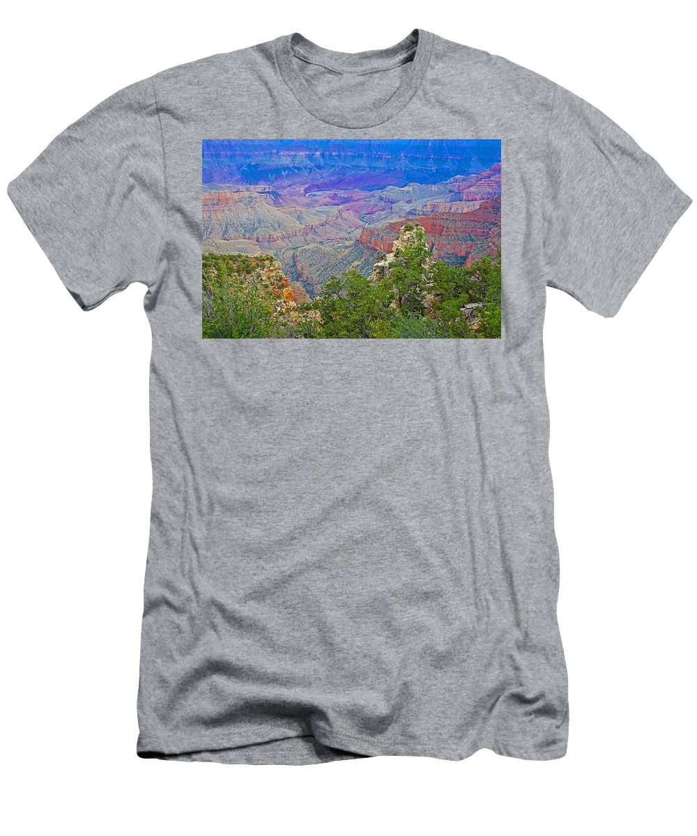Walhalla Overlook On On North Rim/grand Canyon National Park Men's T-Shirt (Athletic Fit) featuring the photograph Walhala Overlook On North Rim Of Grand Canyon-arizona by Ruth Hager