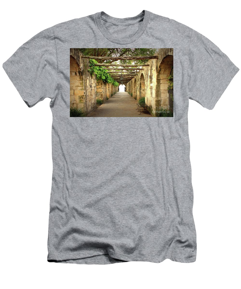 Alamo Men's T-Shirt (Athletic Fit) featuring the photograph Walk To The Light by Carol Groenen