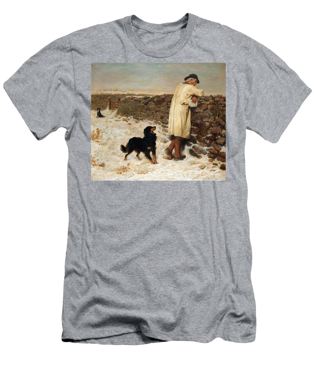 Briton Riviere Men's T-Shirt (Athletic Fit) featuring the painting War Time by Briton Riviere