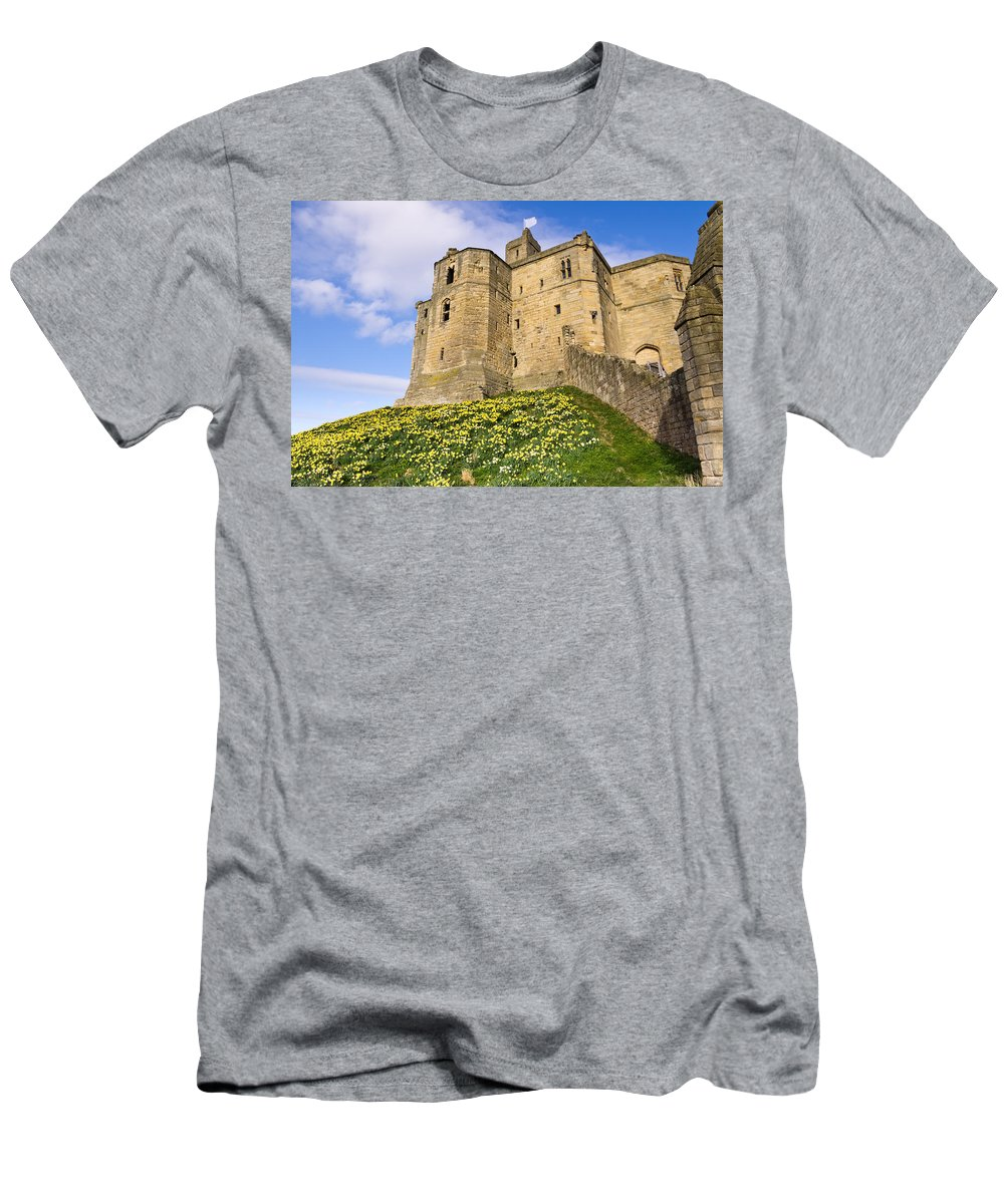 Northumberland Men's T-Shirt (Athletic Fit) featuring the photograph Warkworth Castles North Keep by David Head