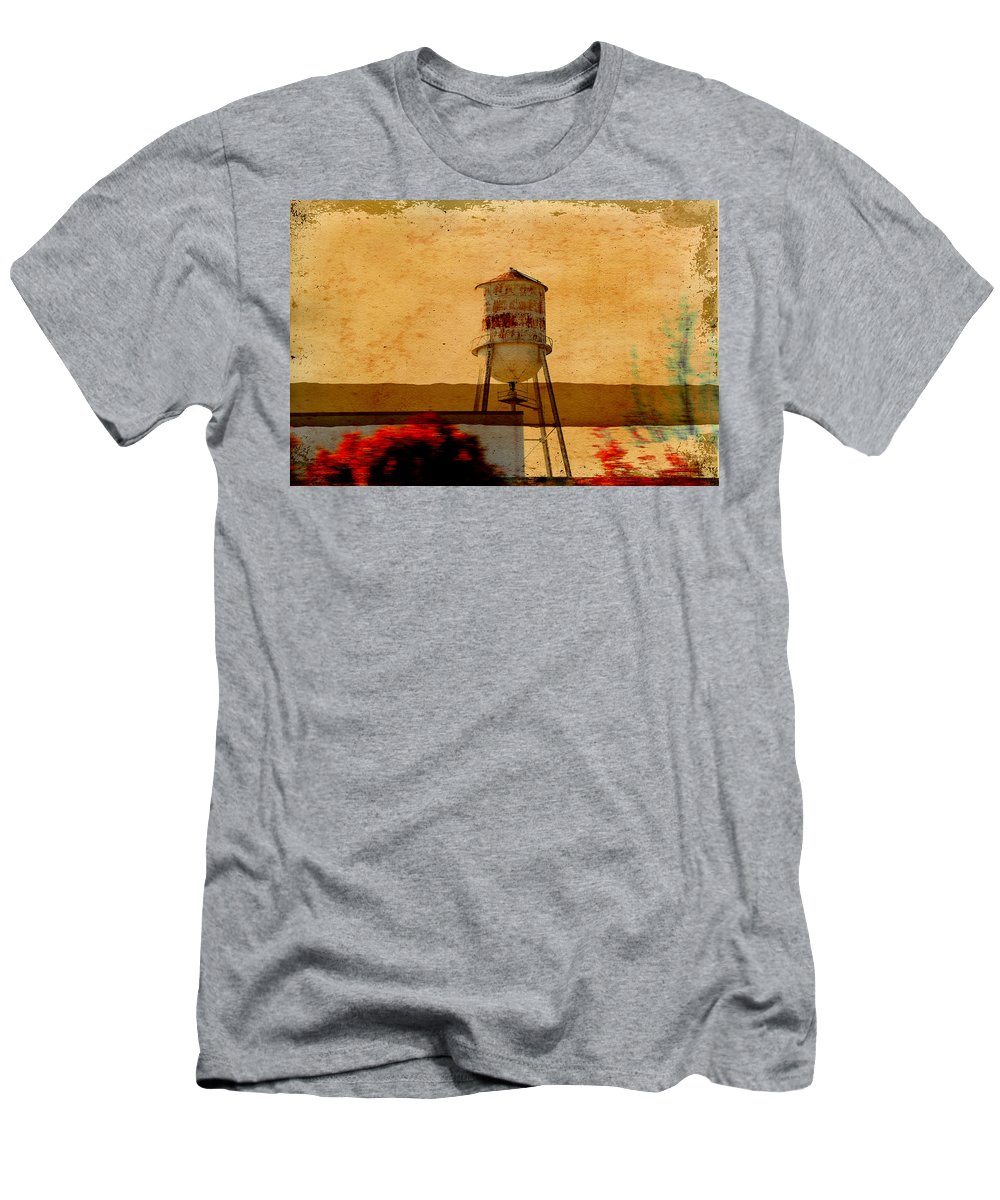 Wright Men's T-Shirt (Athletic Fit) featuring the photograph Water Tower by Paulette B Wright