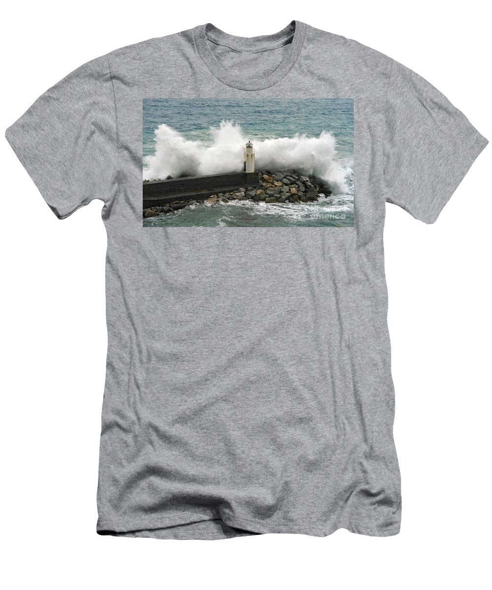 Agitated Men's T-Shirt (Athletic Fit) featuring the photograph Waves by Antonio Scarpi