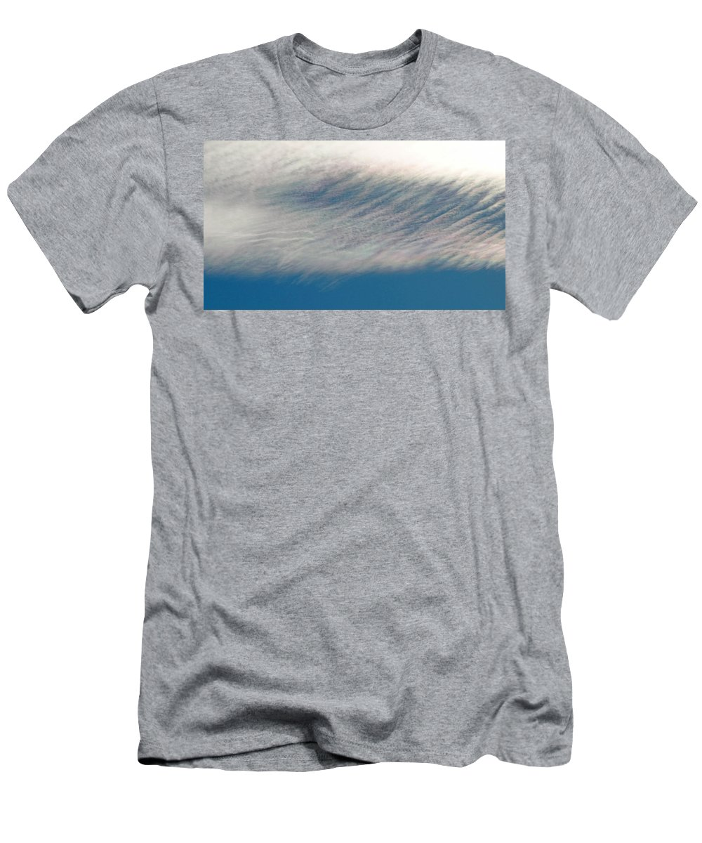 Cloud Men's T-Shirt (Athletic Fit) featuring the photograph Wavy Iridescent Clouds by Greg Boutz
