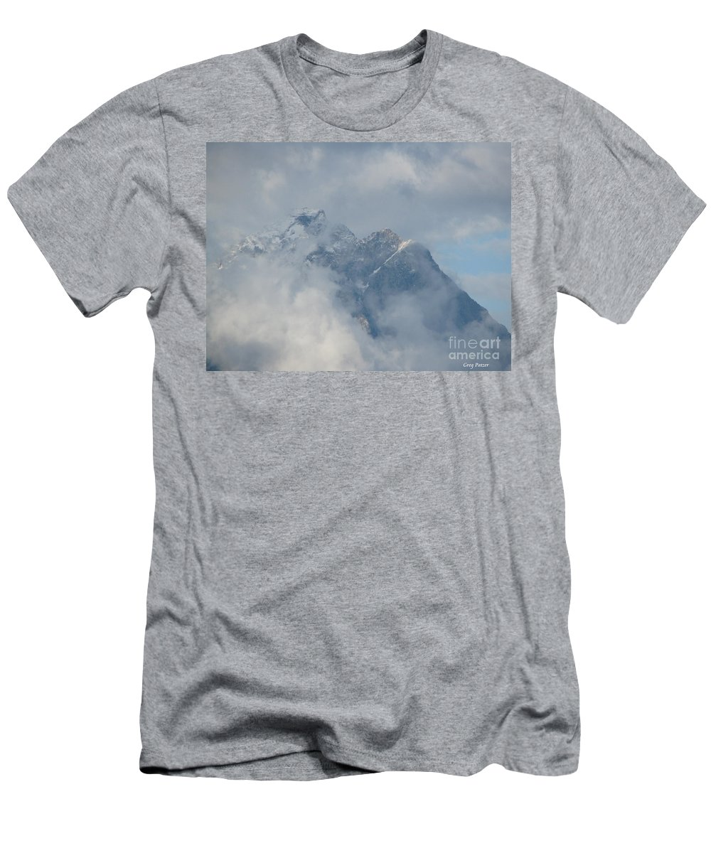Patzer Men's T-Shirt (Athletic Fit) featuring the photograph Way Up Here by Greg Patzer