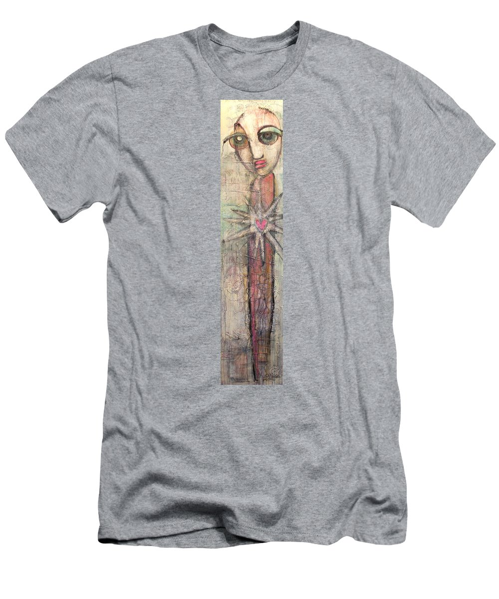 Figurative Men's T-Shirt (Athletic Fit) featuring the painting We Have The Holy Responsibility by Laurie Maves ART