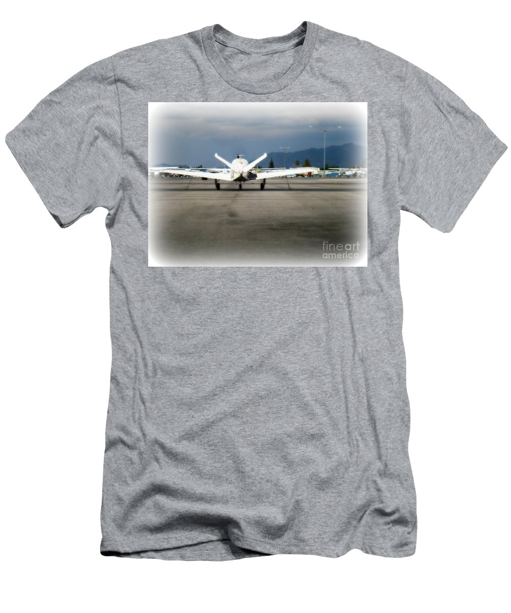 Aviation T-Shirt featuring the photograph What fly girl is dreaming about by De La Rosa Concert Photography
