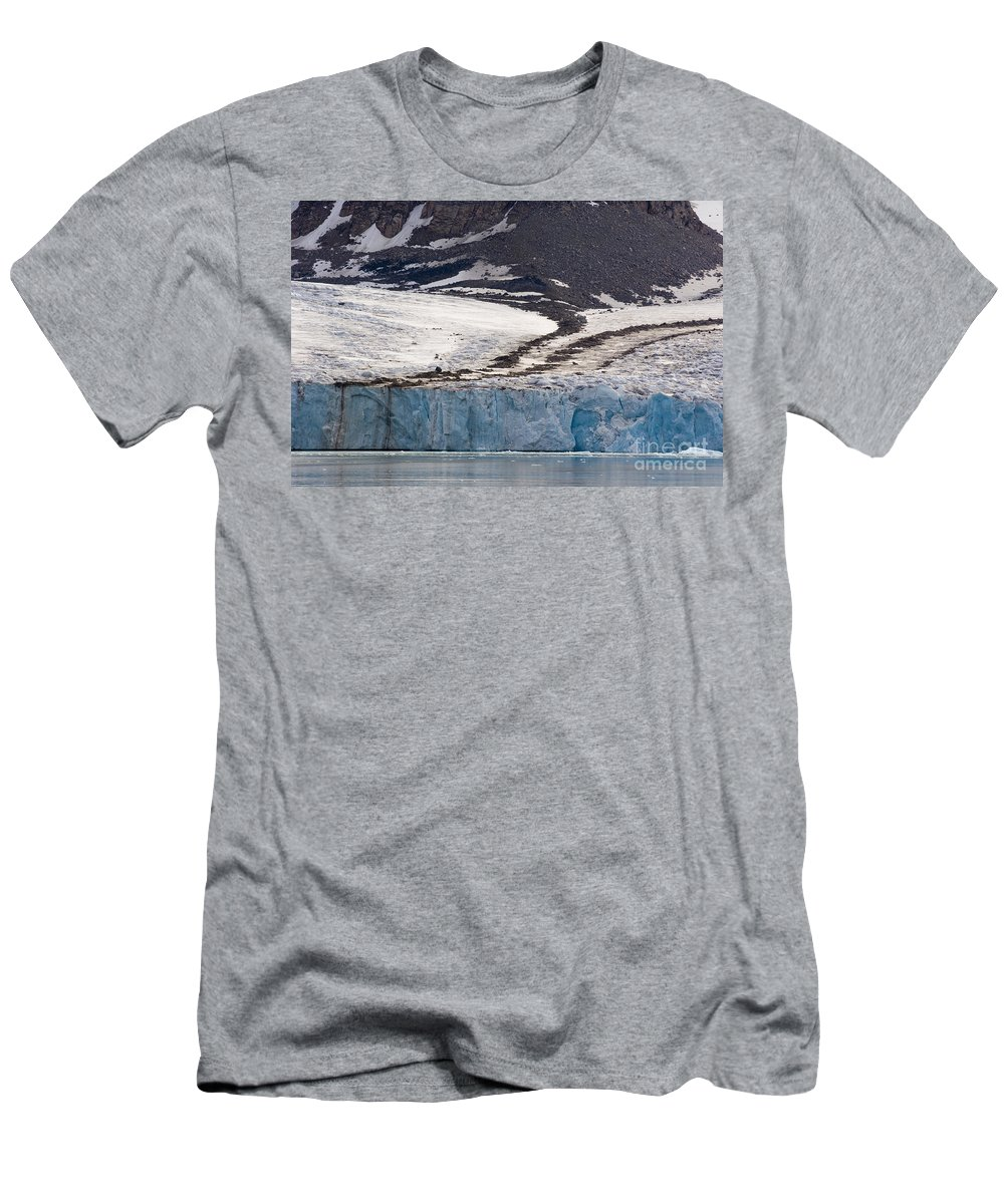 Moraines Men's T-Shirt (Athletic Fit) featuring the photograph Where Glaciers Meet by John Shaw